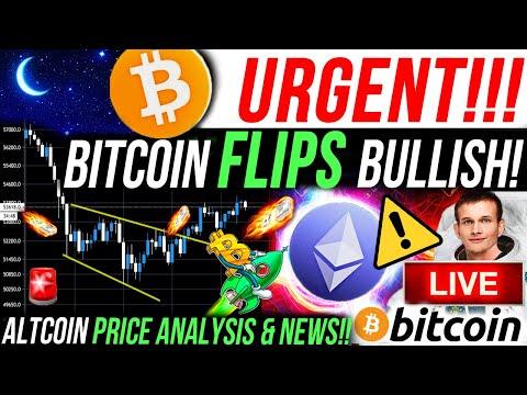 ALERT!!🚨BITCOIN FLIPS BULLISH!! ETHEREUM PRICE NEW TARGET!! IM BUYING ALTCOINS!! BTC & CRYPTO NEWS