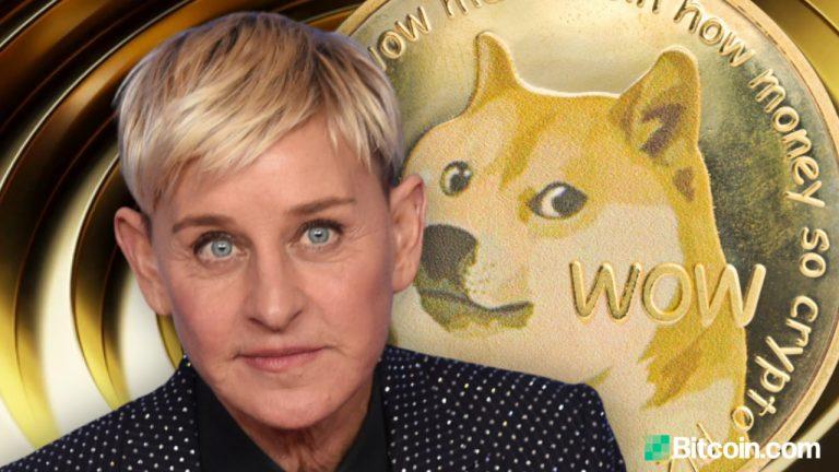 Popular Talk Show Host Ellen Degeneres Asks About Cryptocurrency — Mark Cuban Urges Her to Accept Dogecoin