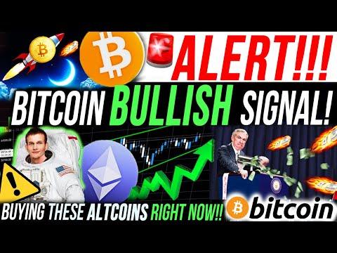 ALERT!!🚨BITCOIN BULLISH SIGNAL!! I'M BUYING THESE ALTCOINS RIGHT NOW!! BITCOIN NEWS & ANALYSIS