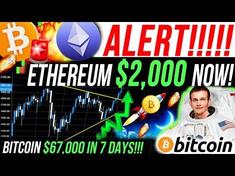 ALERT!!🚨ETHEREUM BREAKING $2,000!!🚨 BITCOIN $67K IN 7 DAYS!! MORGAN STANLEY BUY BTC!! 100X ALTCOINS!