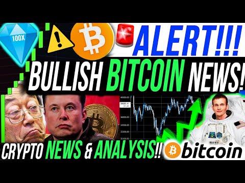 ALERT!!!🚨BULLISH BITCOIN NEWS!!! ETHEREUM & BITCOIN PRICE ANALYSIS!!!! ALTCOIN & CRYPTO NEWS!