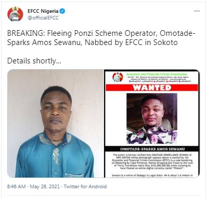 Fleeing Lynchpin of Nigerian Crypto Ponzi Scheme Inksnation Captured